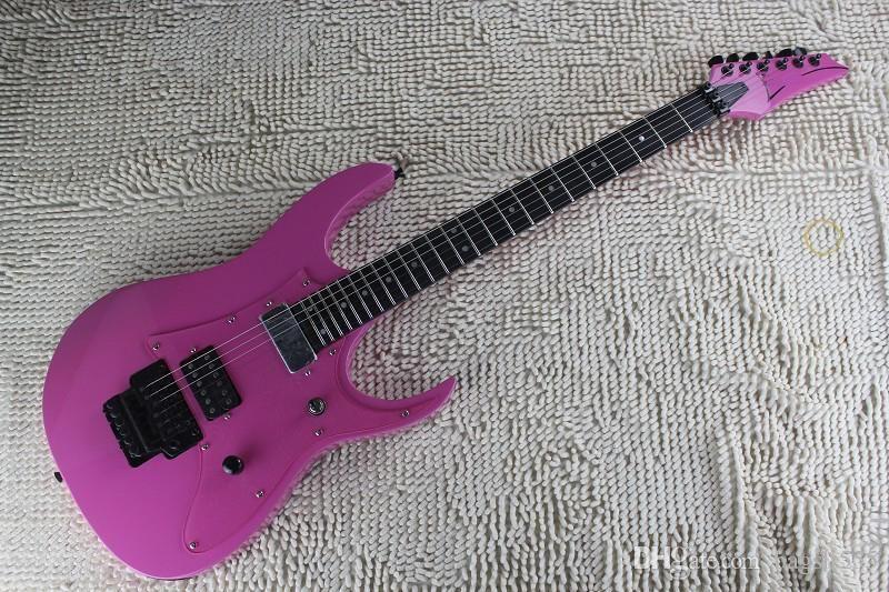 Бесплатная доставка Новое поступление розовый JEM 7V Team J корабля фарфора пост электрогитарой Ebony грифа гитары