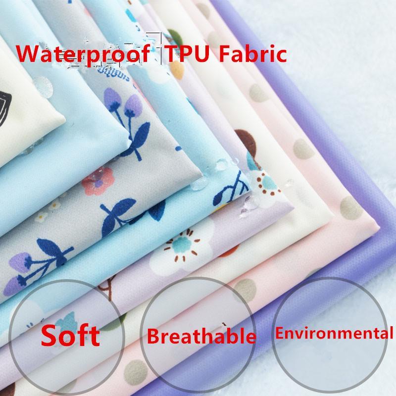165cm anchura de poliéster suave impermeable TPU tejido transpirable de membrana en el Ba Pañales Ambiental PUL paño de la tela