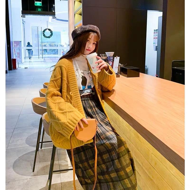otoño e invierno nueva capa engrosada sueltos populares de abrigo chaqueta de punto estilo en línea 8YdVC estilo coreano 2020 suéter de las mujeres perezosas