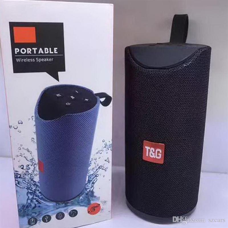 المتحدثون اللاسلكي TG113 بلوتوث المحمولة مكبر للصوت يدوي نداء ستيريو باس الدعم TF بطاقة TG113