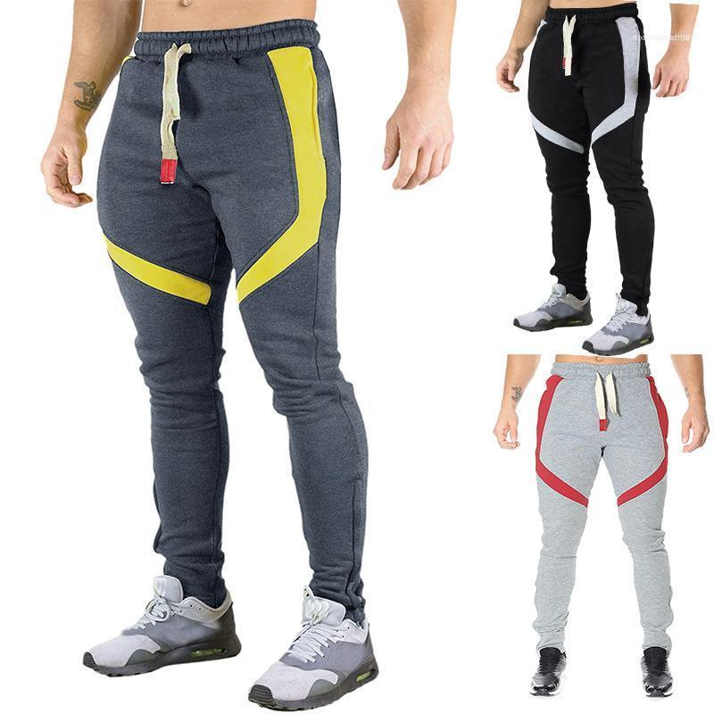 Mens Sports New 19ss Joggers Athletic GYM Fitness Work Out Male Pants Pantalones