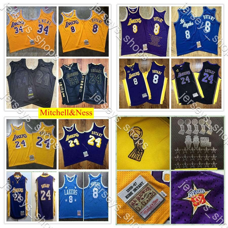 2020 Otantik Mitchell Ness Los AngelesLakersKobeBryant60.824 Swingman Basketbol Formalar