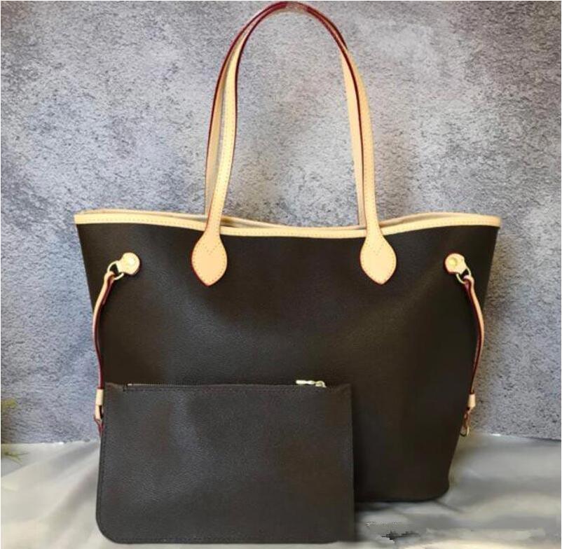 Top quality handbags Brown letter flower Coffee lattice handbags purses clutch bags white lattice totes leather handbags shoulder bag