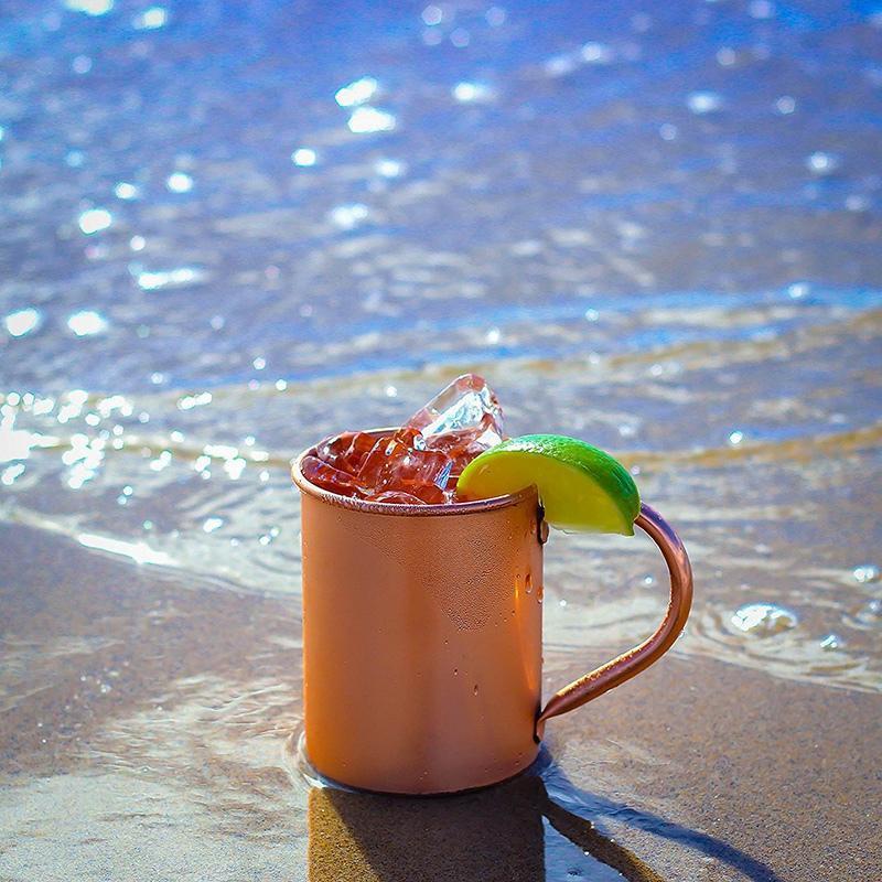 Caneca Caneca 2pcs Copper criativa Cobre Artesanais Durable Moscow Mule Canecas de Bar drinkwares Kitchen Party