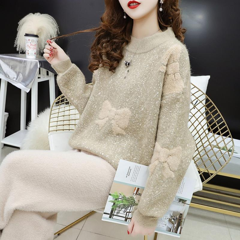 Women's sweater 2020 Fall/Winter New fairy hipster Internet celebrity loose top Western style knitted base shirt pullover Top pullover hFfx