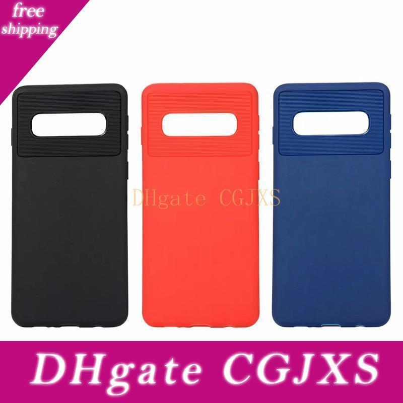 Luxe souple Tpu cas pour Samsung Galaxy S10 Plus Lite J4 de base pour les cas Huawei P30 Pro Silicone Rubber Fashion Cell Phone Cover peau