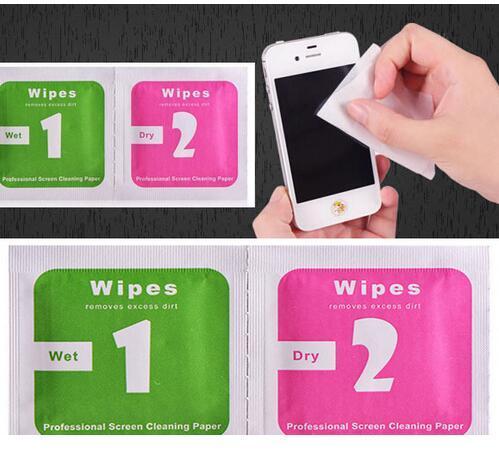 아이폰 8 7 6 기가를위한 카메라 렌즈 광학 LCD 화면 클리너 습식 드라이 클리닝 와이프 제거 종이 먼지 흡수 스티커