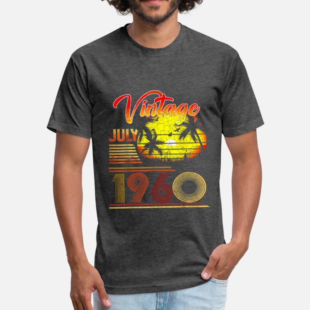 Vintage Juli 1960 Klassischen 59. Geburtstag T-Shirt Männer Designing Baumwolle S-XXXL Normallack Fitness neue Art und Weise Frühlings-Herbst-Outfit Hemd