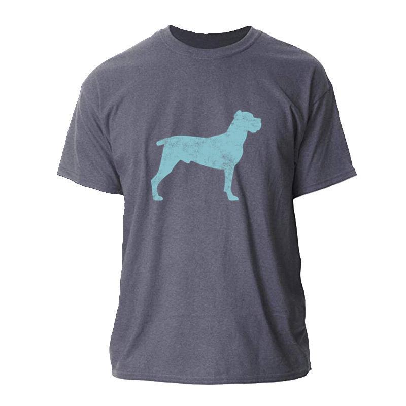 Moda Caña de Corso dueño del perro perro fresco camiseta de los hombres del tamaño S-3XL camiseta fresca para el Mens masculino Streetwear camiseta para los hombres del cuello de O Hip Hop
