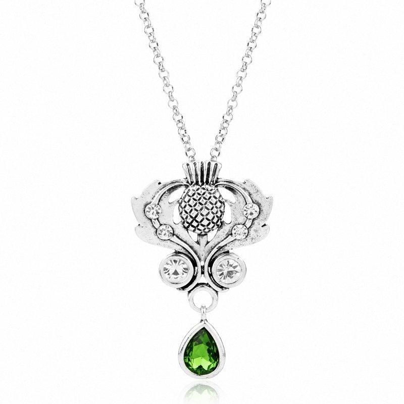 Донченг Outlander шотландский национальный цветок ожерелье Шотландии чертополох ожерелье Кельтский Узел Thistle ювелирные изделия для женщин-30 Iwl4 #