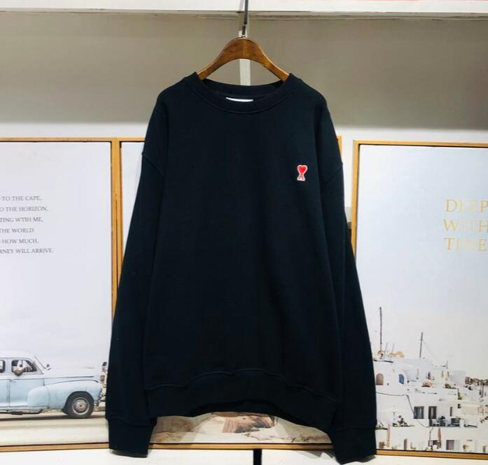 2020FW AMI ronde Pull col Hommes Femmes Alexandre Pull classique broderie mode Mattiussi Pull