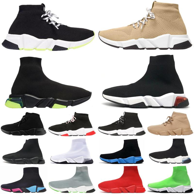 men women casual sock shoes speed trainer vintage triple socks lack-up platform mens womens trainers sneakers Plate-forme size 36-45