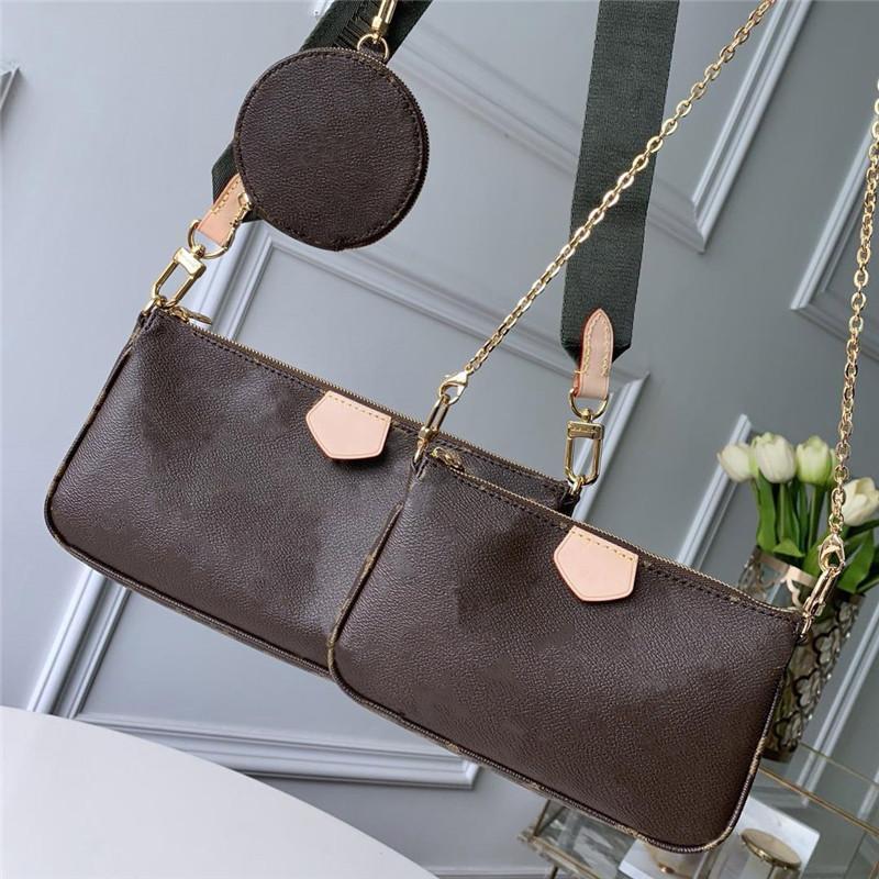 Moda Três peças Handbag clássico Moda pequeno e leve Zipper Estilo com pequeno Pendurado saco pode ser Oblique Voltar Shoulder Voltar