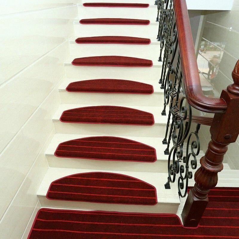 Modern Stripes Stairs Mat Adhesive Carpet Stair Treads Mat Non Slip Staircase Rug Cover Protection Carpet Samples Online Nylon Carpet bu4E#