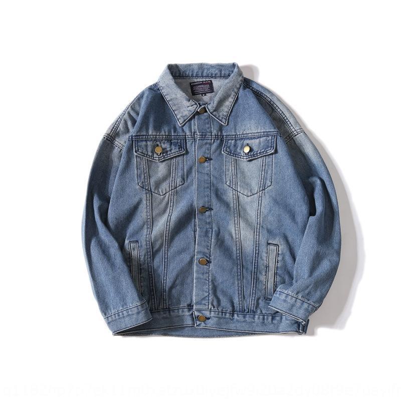 mektup erkek ve kadın OW moda markası çift aşınma ceket kot ceket jacketloose Sokak KAPALI kot geri Kış giyim