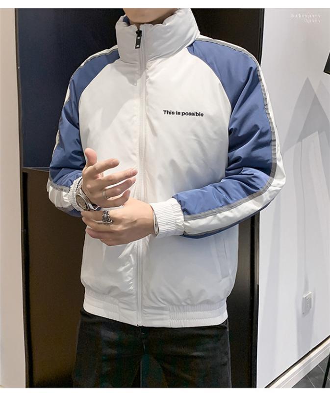 بانخفاض سترة جديد عصري أزياء قصيرة الأكمام الطويلة مع زيبر معطف الشتاء مصمم رجالي عارضة
