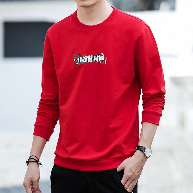 k3BJX maglione 2019 di tendenza lettera maglione autunno nuovo cotone di modo girocollo maniche lunghe cappotto degli uomini del cappotto del maschile