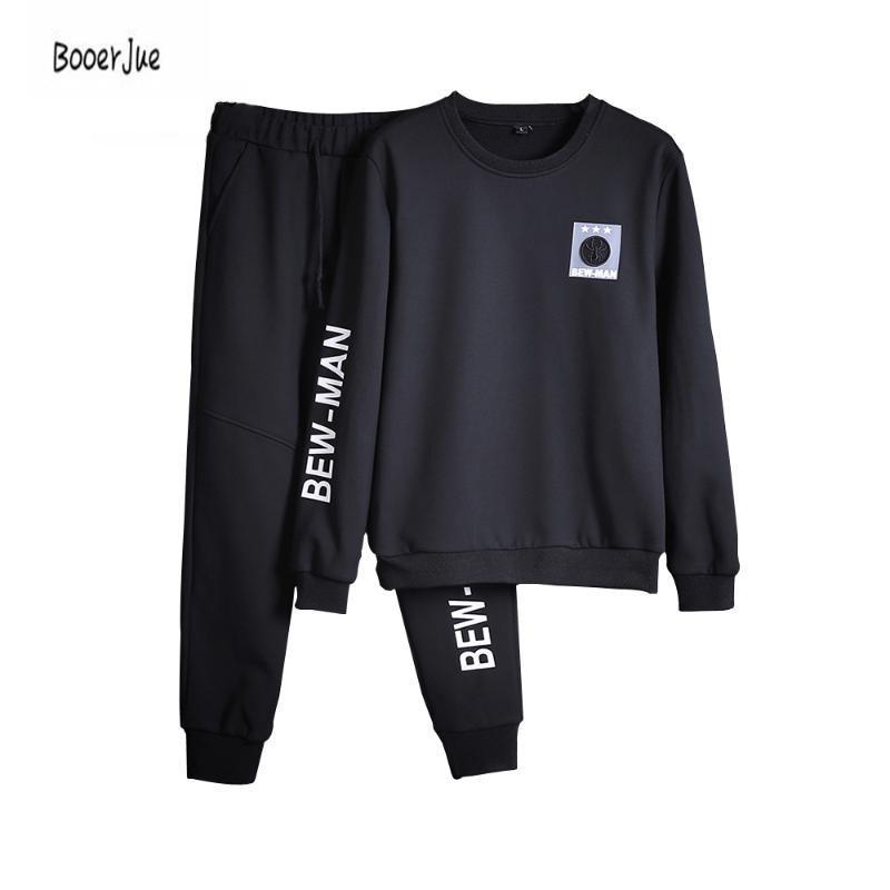Men's Tracksuits Men Tracksuit Set Solid Sweat Suit Track Suits Coat+Pants Hoodie Sweatshirt Moletons Masculino 2021