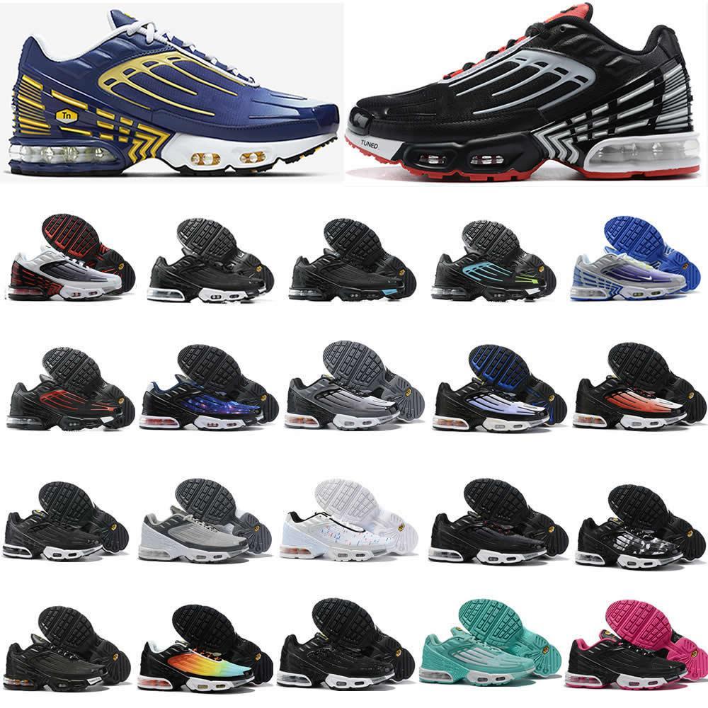 2020 Erkekler Ayakkabı PLUS TN 3 III Paraşüt Sunset Kırmızı Mavi Örümcek Üçlü Siyah Beyaz Altın Gri Moda Erkek Kadın Sneakers Running döndü Serin
