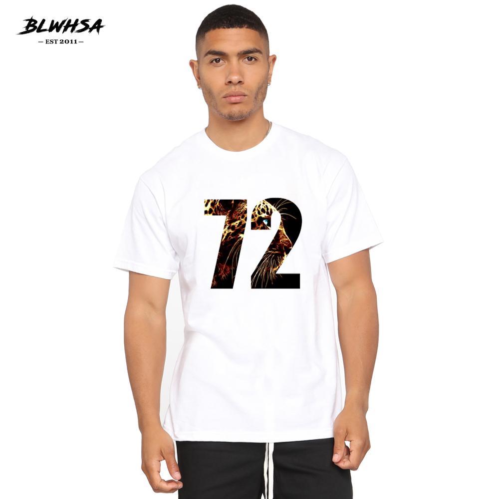 Leopard 72 Impreso hombres de la camiseta corta ocasional de la manera del verano de la manga camiseta fresca de Hip Hop Diseño animal del tamaño extra grande remata las tes
