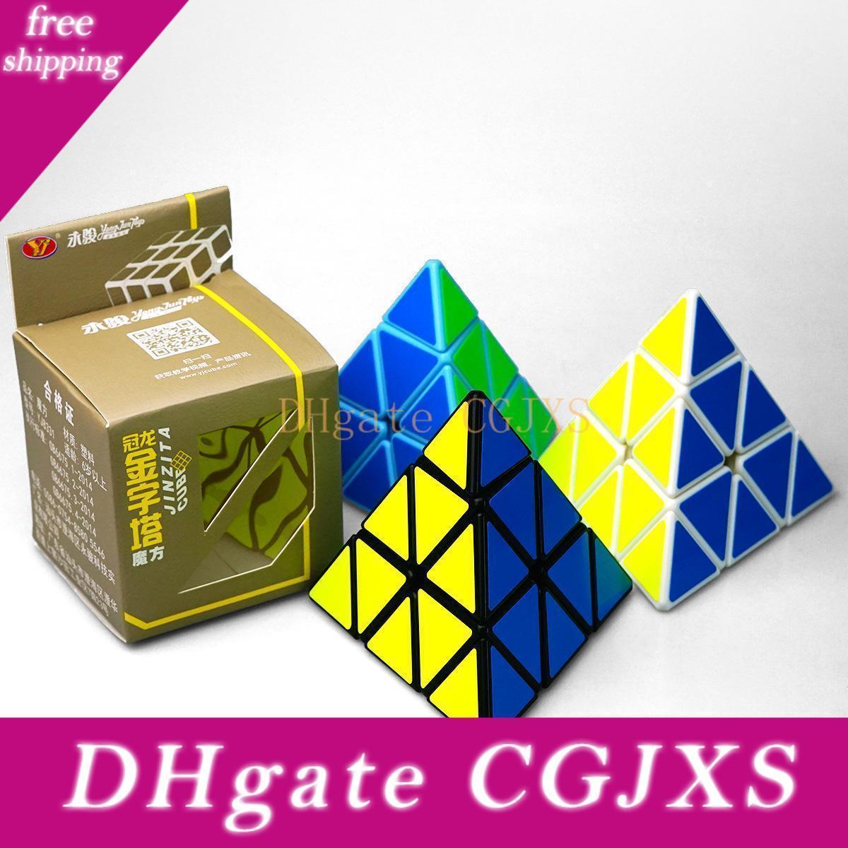 Pyramid Magic Cube Forma Professional Ultra -Smooth velocidade Magico Cubo torção quebra-cabeça DIY Educacional brinquedo para crianças Crianças