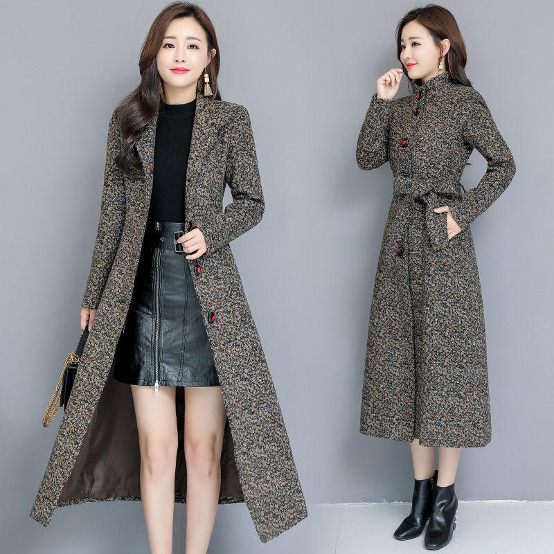 Taille Dames Manteau Femme Longue Section Corée Version coréenne 2020 Nouvelle femme populaire Femmes Vêtements pour femmes