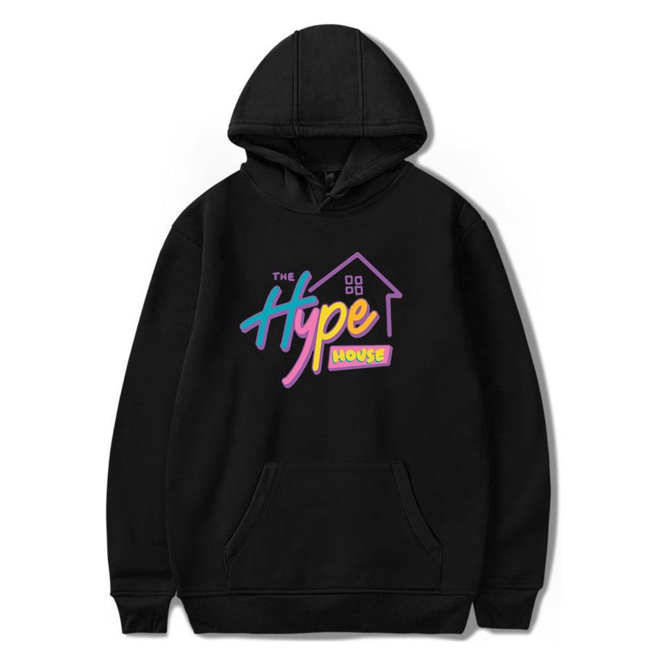 O Hype Casa Hoodies Charli D'Amelio Moletons Homens Mulheres Imprimir Addison Rae hoodies pulôver Unisex Harajuku Treino MX200812