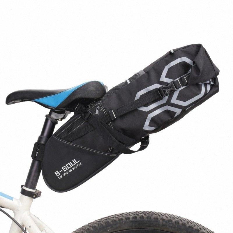 BSOUL 12L Bicycle Luggage Bag Large Bicycle Accessories Cycling Capacity Bike Saddle Tail Seat Waterproof Storage Bags Cycling Rear Pa k2rG#