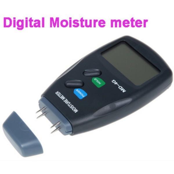 Quevinal neueste digitale 4 Pin LCD Holz Feuchtigkeit und Feuchtigkeitsmessgerät Damp-Detektor-Prüfvorrichtung 5% -40%