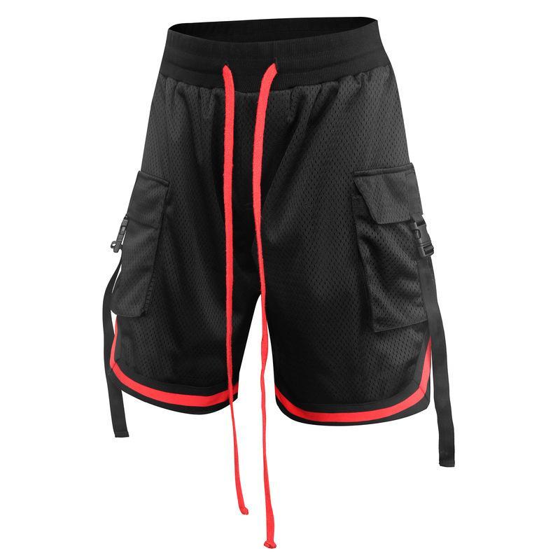 Männer Fitness Sporthose Sommermänner im Freien laufenden Übung Shorts schnell trocknendes Polyester-Mesh
