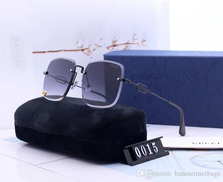 Designer Popular Sunglasses Mens Womens Big Frame Fashion Sunglass Rimless Eyewear Men Women Fashion Brand Lentes Driving Sun Glasses 71136