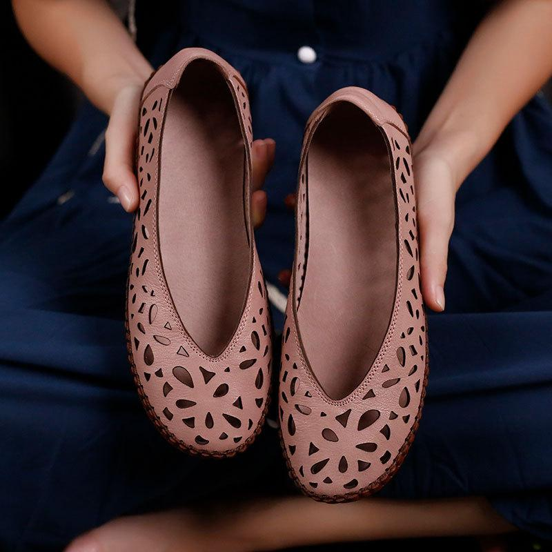 VALLU 2020 nuova piccola pelletteria in pelle morbida testa rotonda scarpe panino modelli in cotone e lino selvatici cave dei pattini delle donne piane