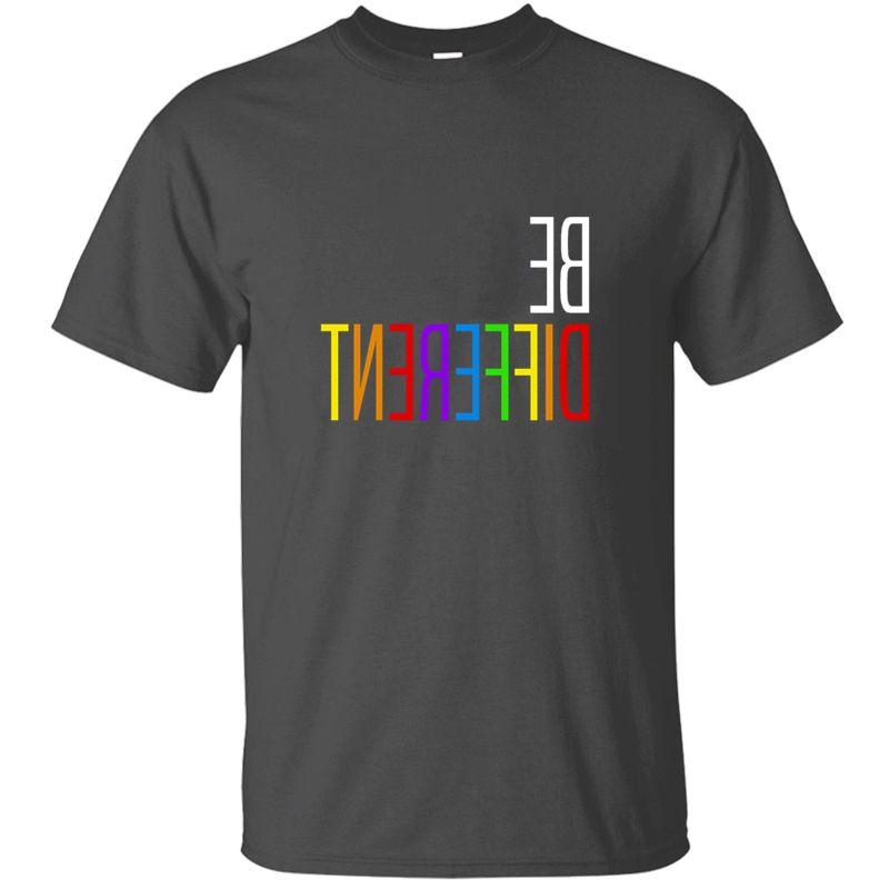 Neueste Entwurfs-Lgbt Homosexuell Pride Lesbian Be Different Geschenk-Idee T-Shirt Mann 100% Baumwollkleidung Comical Männer-T-Shirts 2020