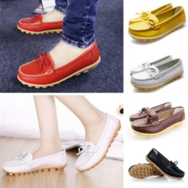 2020 Nouveau Femmes Chaussures Mocassins en cuir Femmes Flats Slip On Mocassins Spring Flats Femme Mocassins Chaussures Taille Plus de femmes