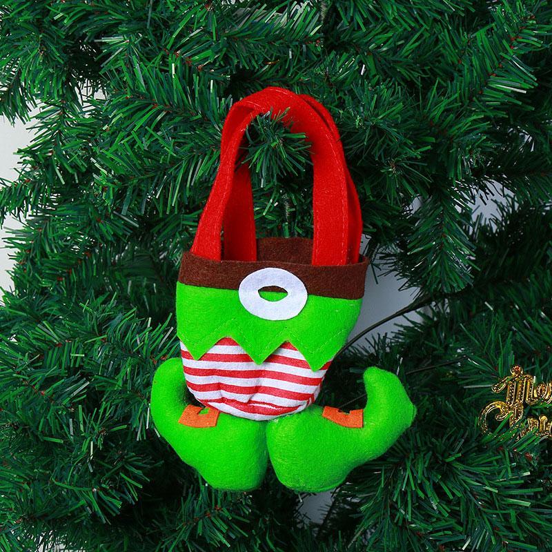 18 * 21см Нового прибытия Творческого мультфильма клоун Эльф штаны Нетканые конфеты сумка елочный мешочек