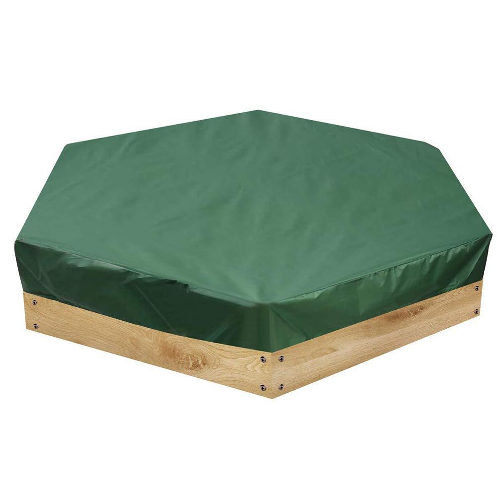 Grüne Sandkasten-Abdeckung Garten Hauben Zubehör Staubdicht Waterproof Oxford Cloth