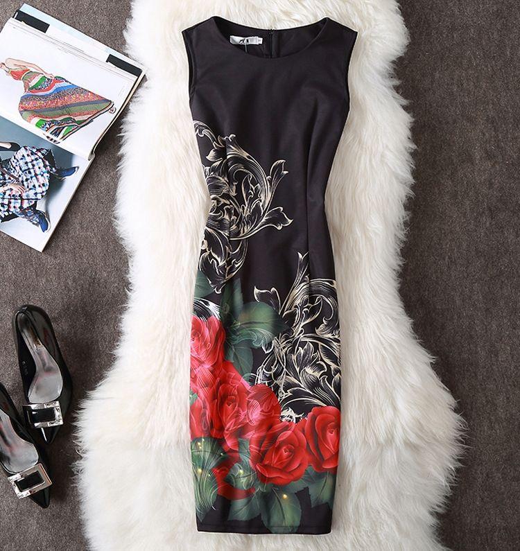 2019 Nova cintura emagrecimento hip-coberta impressa Vestido saia lápis DWBSS vestido de saia lápis