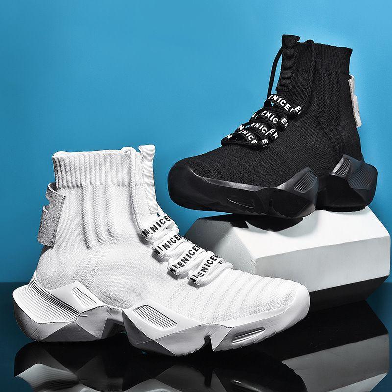 Hommes Poids léger Courir Chaussettes Chaussures Automne Printemps Noir Respirant Anti Slip Homme Mesh Chaussures de marche Chaussures de sport en plein air B31-18