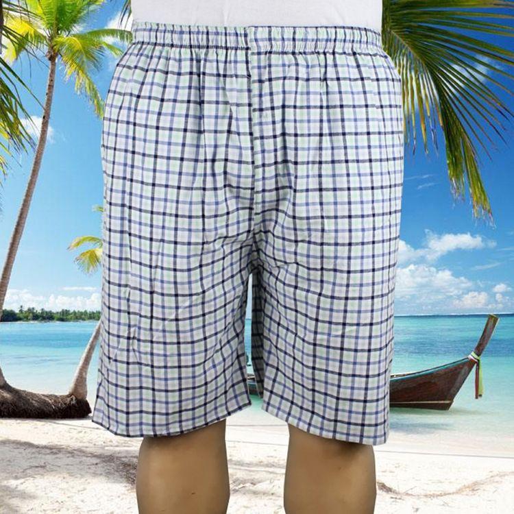 wMVOd Sommer Hose neue Hose Strand und Haus der Männer Hosen bequeme Hosen nach Hause losen große karierte Baumwollpyjamas