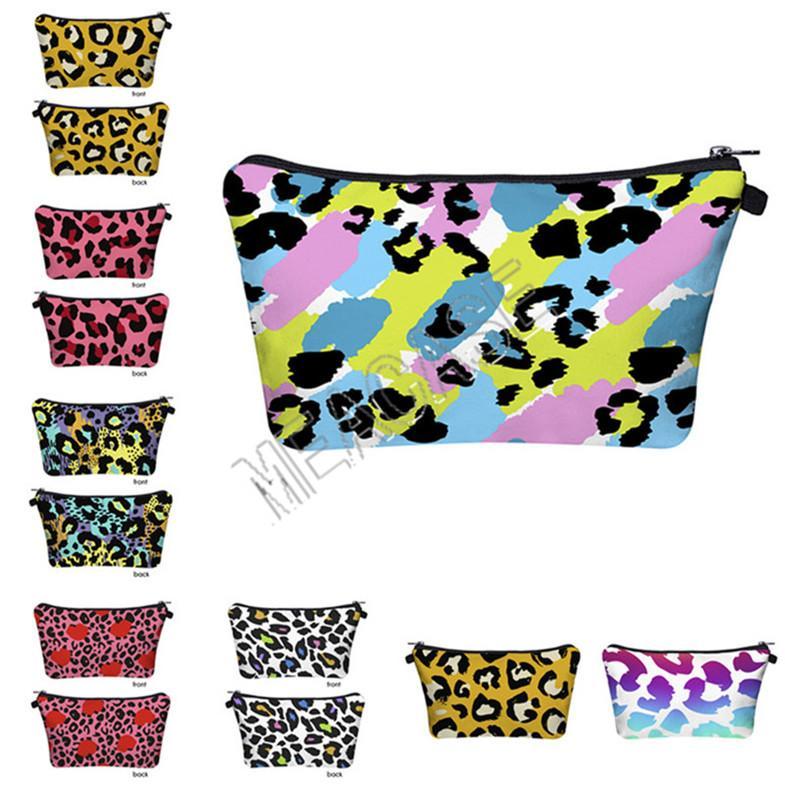 Handbag Leopard Toiletry Ladies Designer Makeup Totes Bag Zipper Clutch Purses FREE Storage Cosmetic 11 Fashion DHL Colors D81209 Tnpat