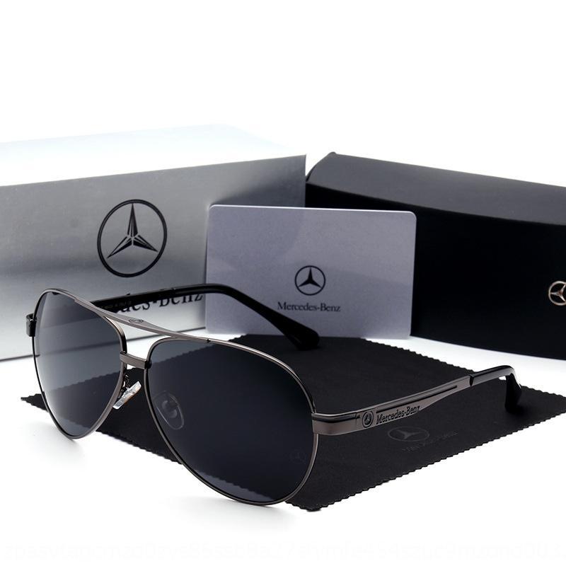 2020 erkek moda polarize güneş 737 Mercedes-Benz geniş çerçeve pilotu güneş metal çerçeve istiridye Güneş Benz gözlükler