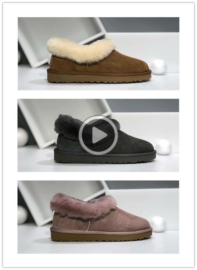 TOP Qlity Wolle Haut echte Wolle Winter-Hausschuhe Stiefel Damen Plüsch Hause Schuhe Fur Warm Comfort Innenhaus-Hausschuhe Größe 36-40