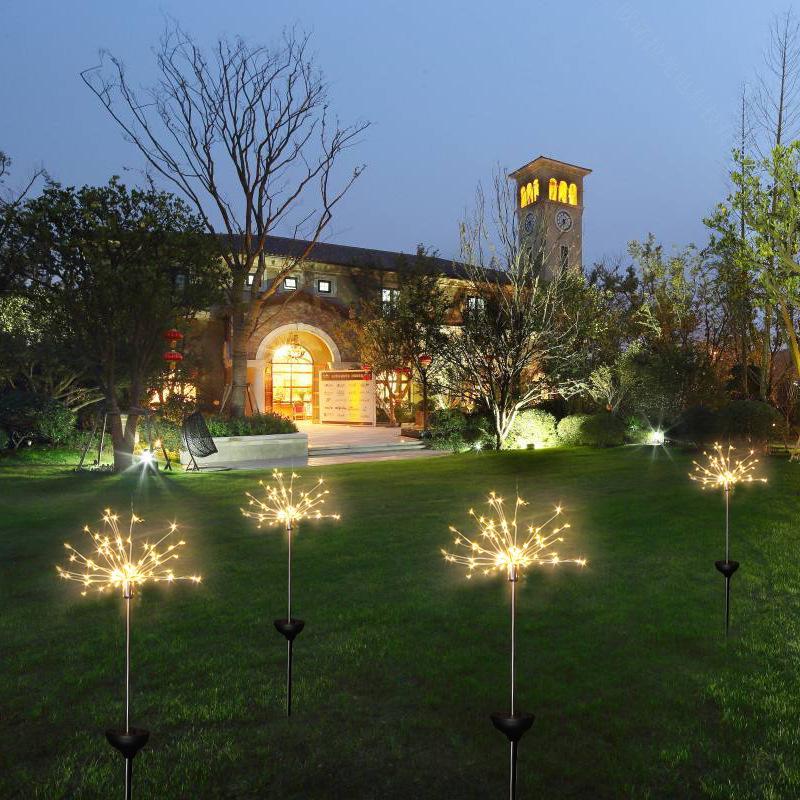 Солнечный свет Открытый Декоративные Пиротехнические Свет медного провода 90 120 150 светодиодов Звездное Струнный освещения для Xmas Wedding Party Фестиваль Тропы
