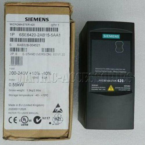 1шт новый Siemens инвертор 6SE6420-2AB15-5AA1 6SE64202AB155AA1 бесплатная доставка