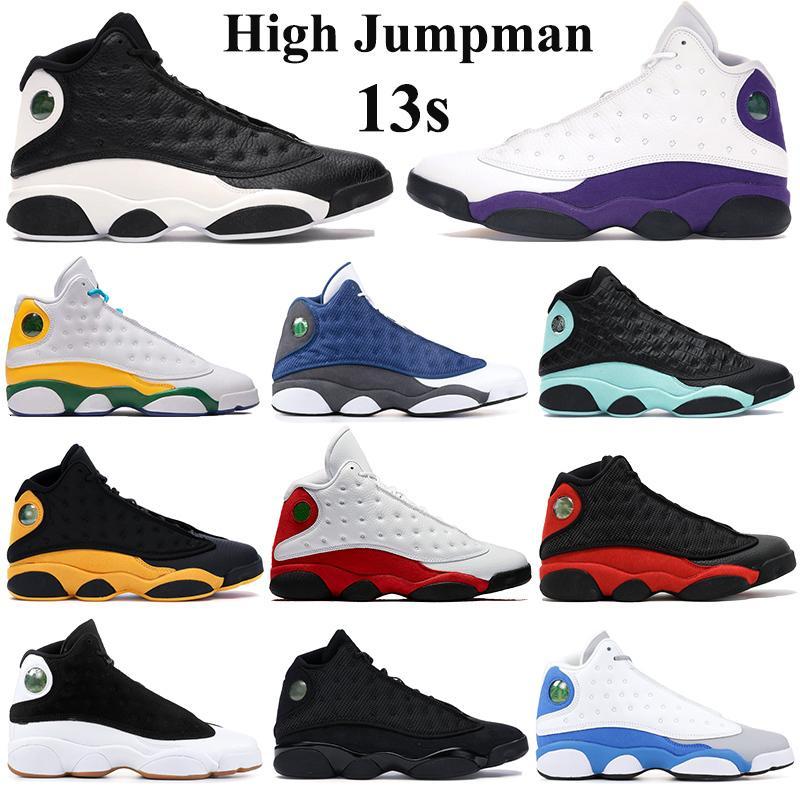 Zapatos jumpman 2020 13s alta baloncesto Flint inversa Una mala jugada melo de la clase 2002 Formadores corte atlético zapatillas de deporte púrpura parque infantil