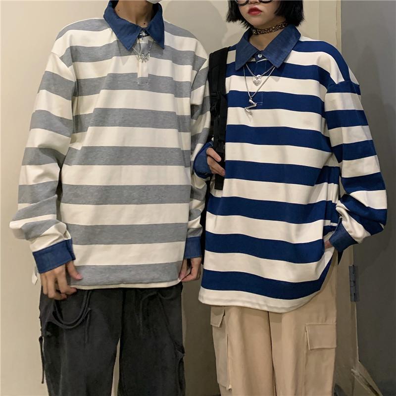 2020 Sweats à capuche Femme Automne simple sélectionl Stripe Oversize overs coréenne chaud loose Streetwear vêtements à capuche