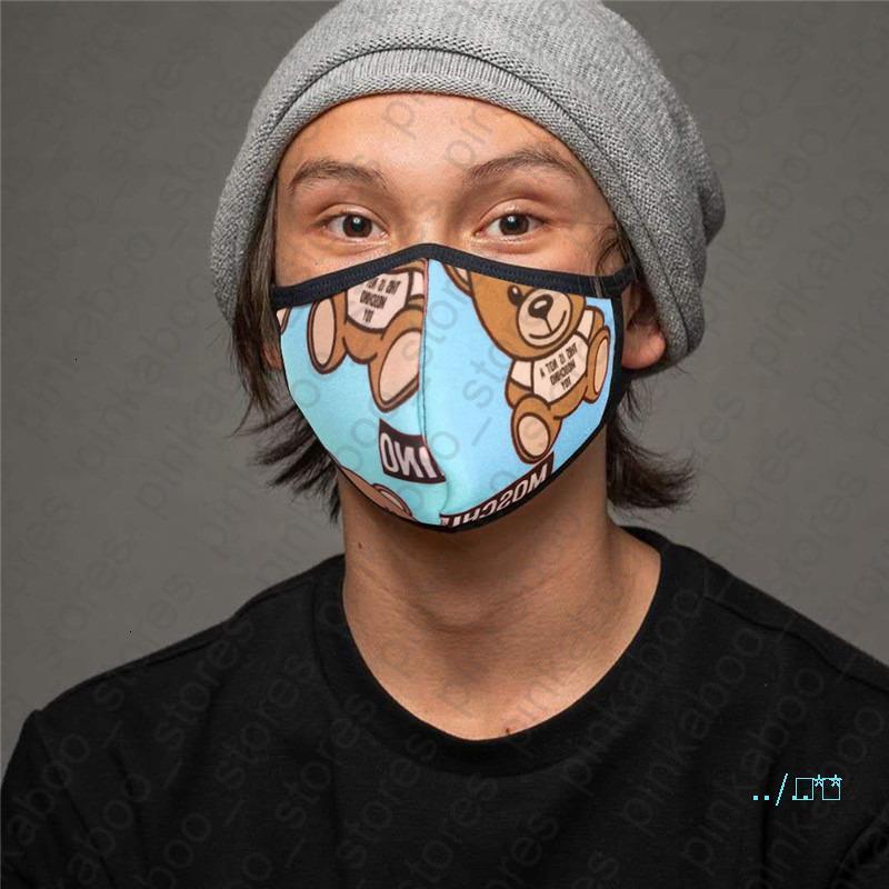 Unisex Yüz Maskeleri Kadınlar Erkekler Yıkanabilir Nefes Yeniden kullanılabilir sunproof Anti-toz Ağız-mufla Bisiklet Spor Maskeleri D41006 yazdır