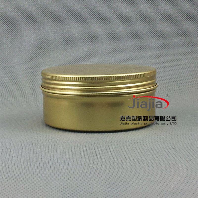 Freies Verschiffen 50pcs / lot 150g Aluminium goldenen Container-Berufskosmetik-Paket Metallkasten Nahrungsmitteldose aus Aluminium-Glas Gold-Box