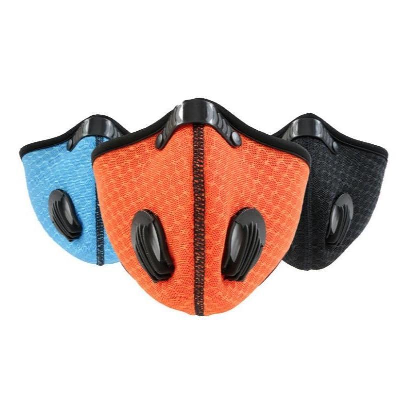 Honeycomb Cycling Mask Outdoor Sports With Valve Filter Masks Respirable Men Women Respirator Popular Dust Proof Sunscreen 5 9gl G2