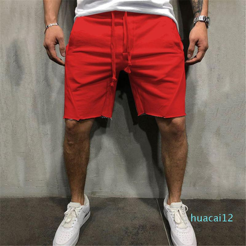 Hot Sale Fashionable sports shorts men's new fitness pants men's solid color running shorts casual sports training pants Size S-3XL